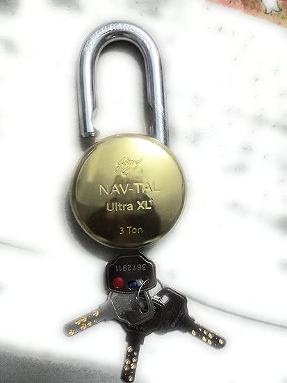 Godrej Nav-Tal Ultra XL+ Padlock (Gold)