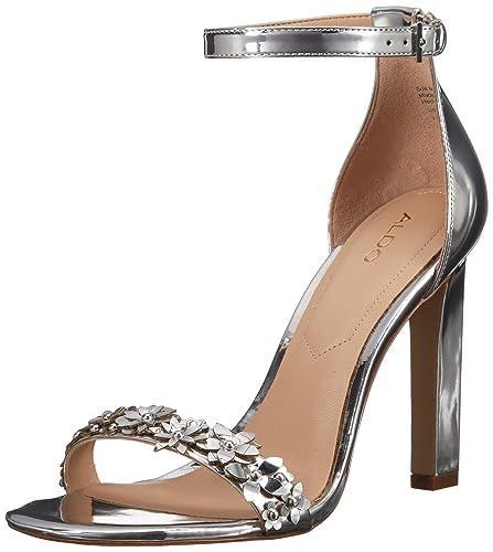 ALDO Women's Milaa Dress Sandal, Silver, ...