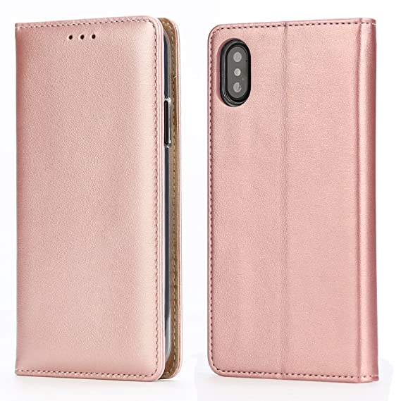 the best attitude 660cc 7e60c IPHOX iPhone X Wallet Case, iPhone X Leather Case Wallet Flip Cover, Ultra  Slim Magnetic Closure Card Slots Bill Compartment Premium PU Leather Flip  ...