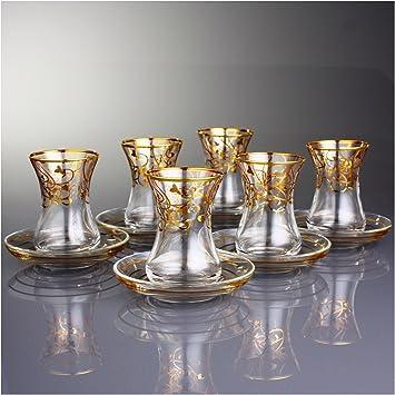 Turkish tea set of 6 100 images cappadocia import for Alpine cuisine tea set