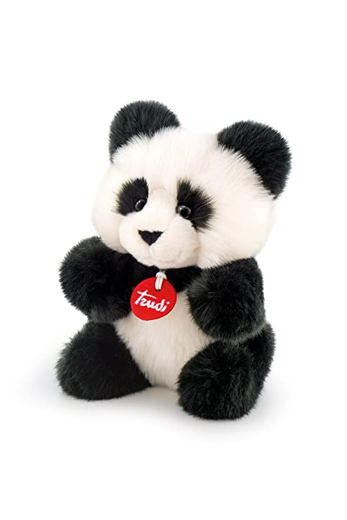 Trudi 24 cm Panda White and Black Soft Fluffy Stuffed Animal Plush Toy