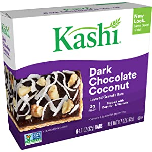 Kashi Layered Granola Bars - Dark Chocolate Coconut - Vegetarian, Kosher Dairy, Non-GMO Project Verified, 6.7 Oz (Box of 6)