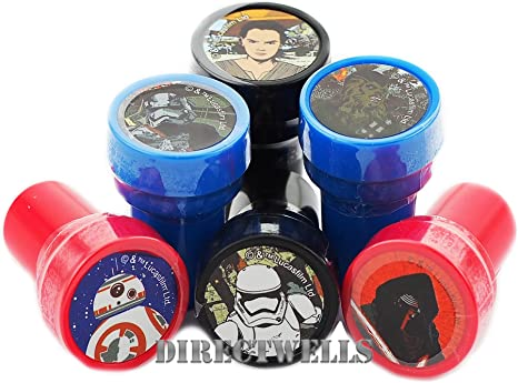 Amazon.com: Disney Star Wars Stampers Party Favors 10 pcs ...