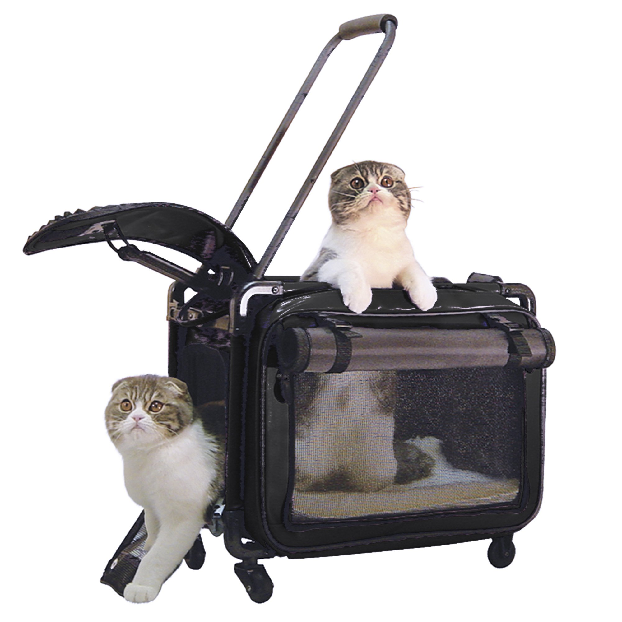 Tutto Medium Pet on Wheels Stroller, 20-Inch, Black by Tutto