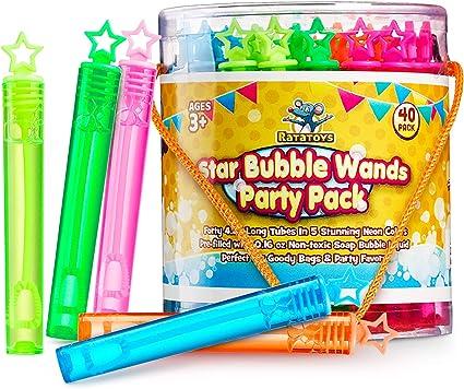 24Pcs Kid's Bubble Wands Funny Bubble Sticks Bubble Toys Party for Beach Game