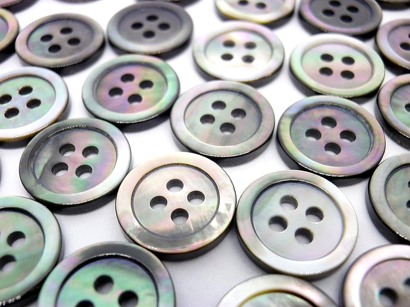 クローン価値のない歪めるQIN 木のボタンセット ウッドボタン 福袋 シンプル アンティーク調 手芸 手作り ボタン 2つ穴 50枚セット 手芸に最適 18mm