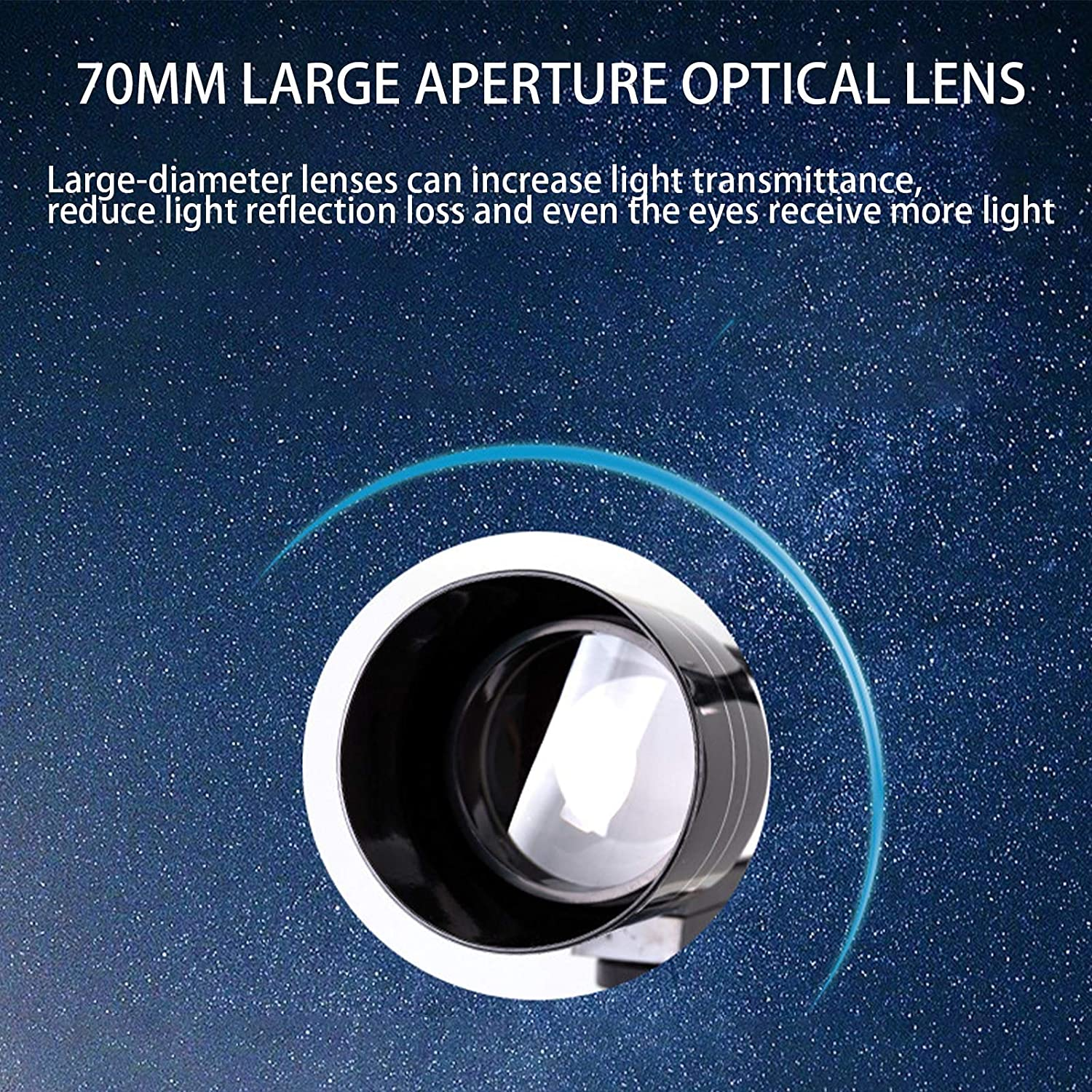 Used to Observe The Moon and Planets Suitable for Children Astronomy Enthusiasts High-Resolution Fully Coated Glass Optical Mirror 70az Refracting Telescope Adults Telescope