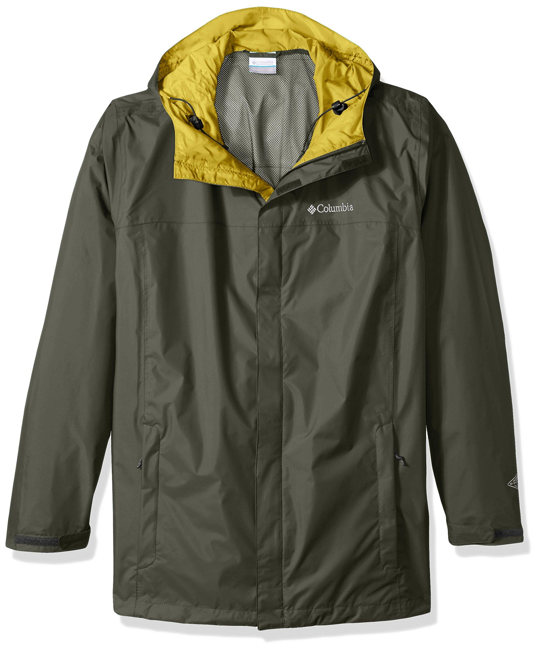 Columbia Men's Big and Watertight Ii Packable Rain Jacket, Gravel, 3X Tall