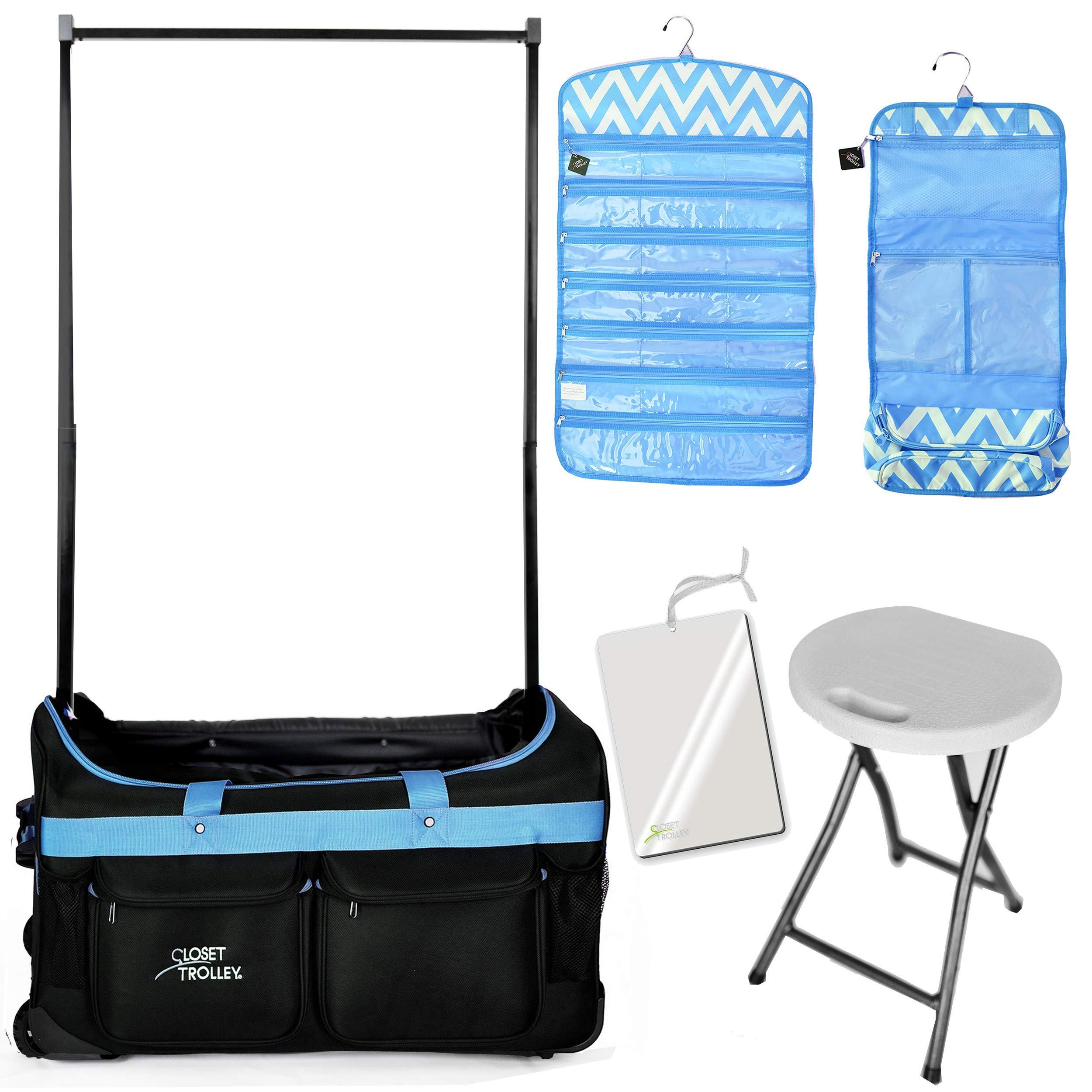 BUNDLE PACK (BLUE BAG w/BLUE ACCESSORIES) by Closet Trolley Dance Duffels