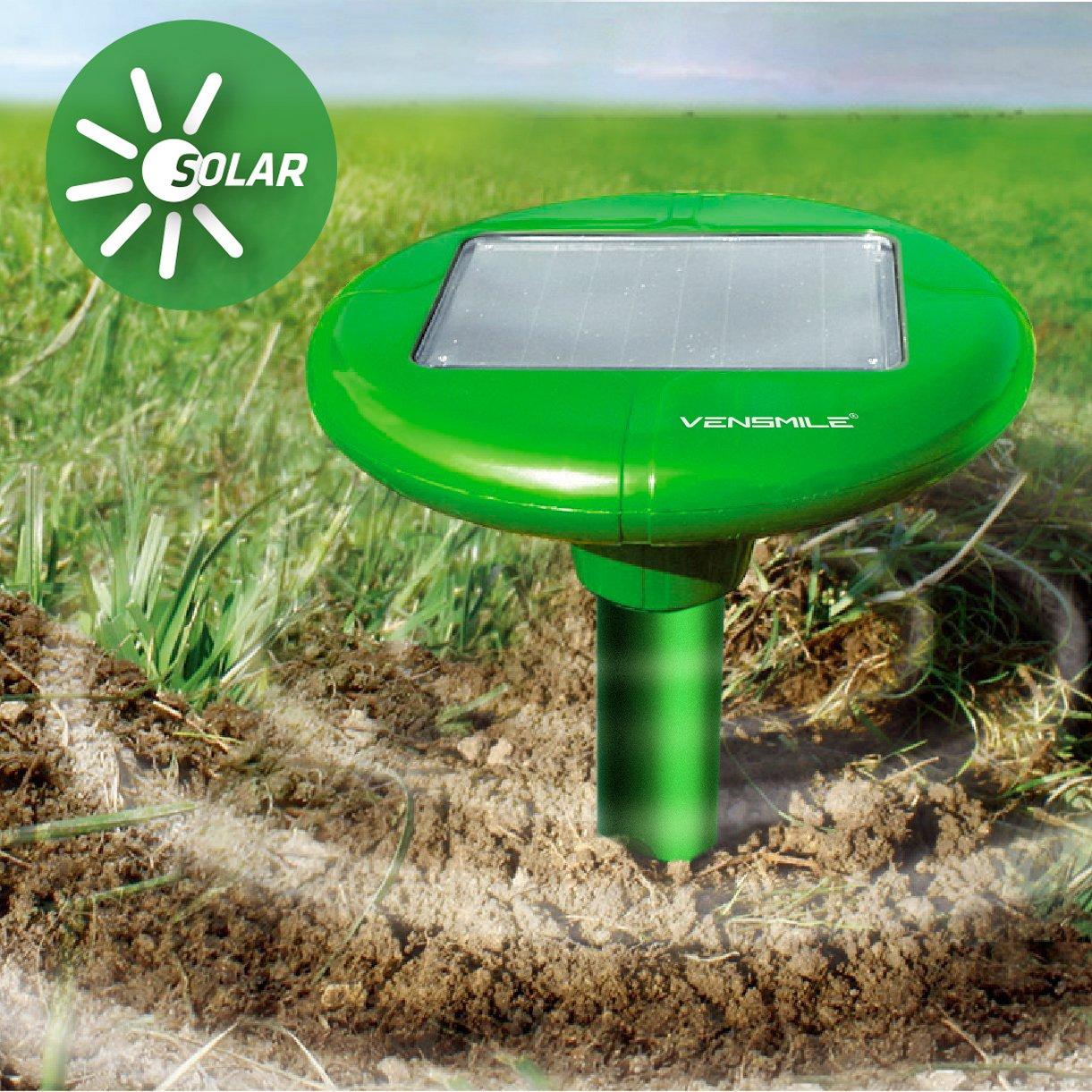 vensmile garden solar powered sonic wave mole repeller repel mole