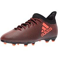 Adidas Boys' X 17.3 FG J Soccer Shoe, Black/Solar Red/Solar Orange, 11.5 Medium US Little Kid