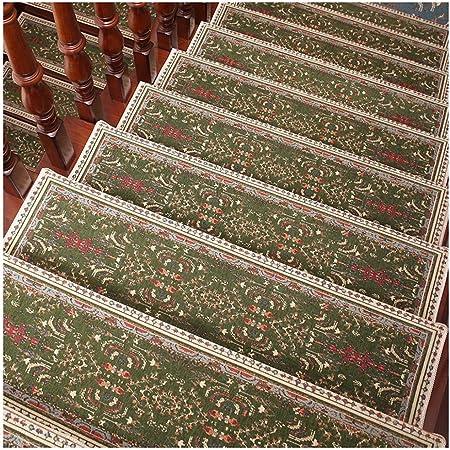 ZENGAI Alfombra de la Escalera Autoadhesivo Agua Absorbente, Fácil de cuidar Protege Las escaleras, Evitar Que Las Personas Mayores/niños se caigan (Color : Green, Size : 80cmx27cm-5pcs): Amazon.es: Hogar