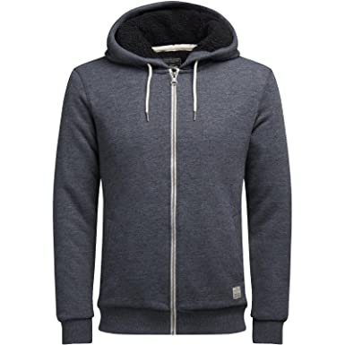 JACK   JONES Herren Sweatjacke Kapuze Pullover Hoodie Core Storm Vintage  Sweatshirt Sweat Jacke Brent S M L XL (S, 1 Dunkelgrau)  Amazon.de   Bekleidung ba6e25deba