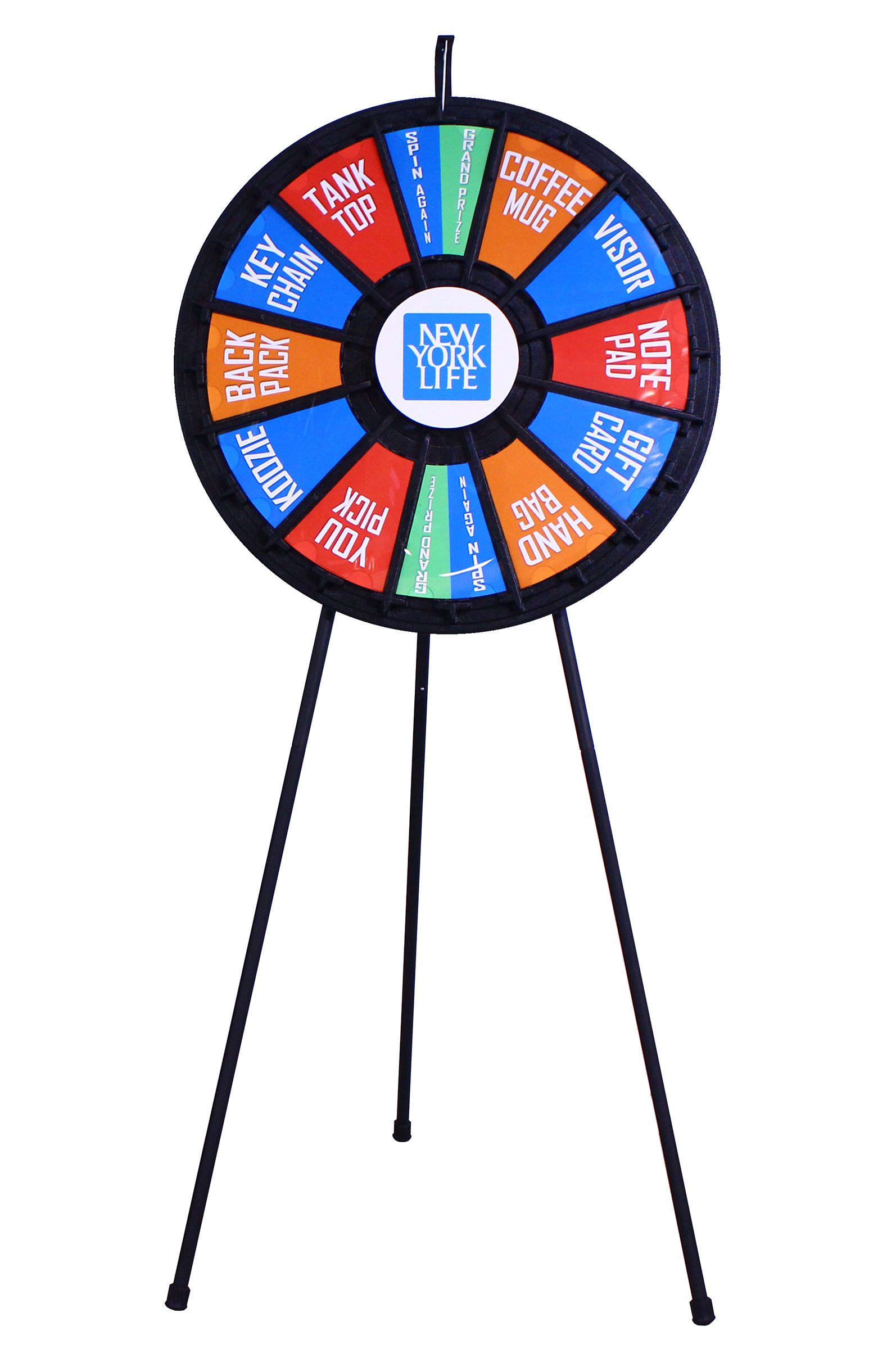 31'' Insert Your Own Graphics Prize Wheel with 12-24 slots on Floor Stand