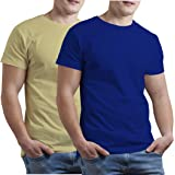 KGB 10 Colours Round Neck t Shirts for Mens Combo Casual Stylish - Packs of 2