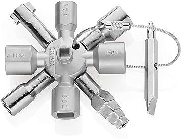 Chiave a croce universale multifunzionale a 4 vie con bit Idraulici in lega di zinco Kit di strumenti per elettricisti per scatola contatore gas Apertura armadio Valvola Armadio