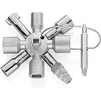 KNIPEX TwinKey Schakelkastsleutel voor alle standaard schakelkasten en afsluitsystemen (92 mm) 00 11 01