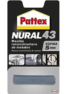 Pattex Nural 43, masilla reconstructora de metales de rápido resultado, 48 gr