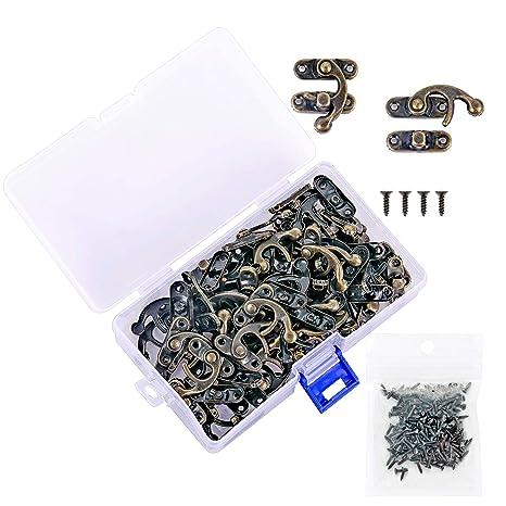 Amazon.com: PGMJ 40 piezas de bronce tono antiguo derecho ...