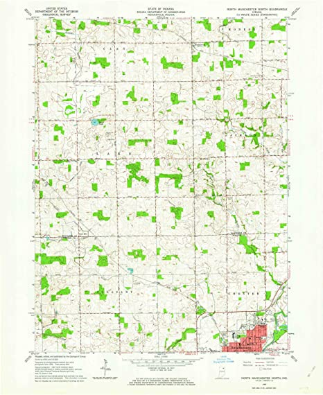 North Manchester Indiana Map.Amazon Com Yellowmaps North Manchester North In Topo Map 1 24000