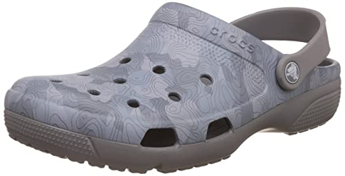 5b929e702a82d crocs Unisex Coast Graphic Light Grey Clogs and Mules - M9W11  Buy Online  at Low Prices in India - Amazon.in