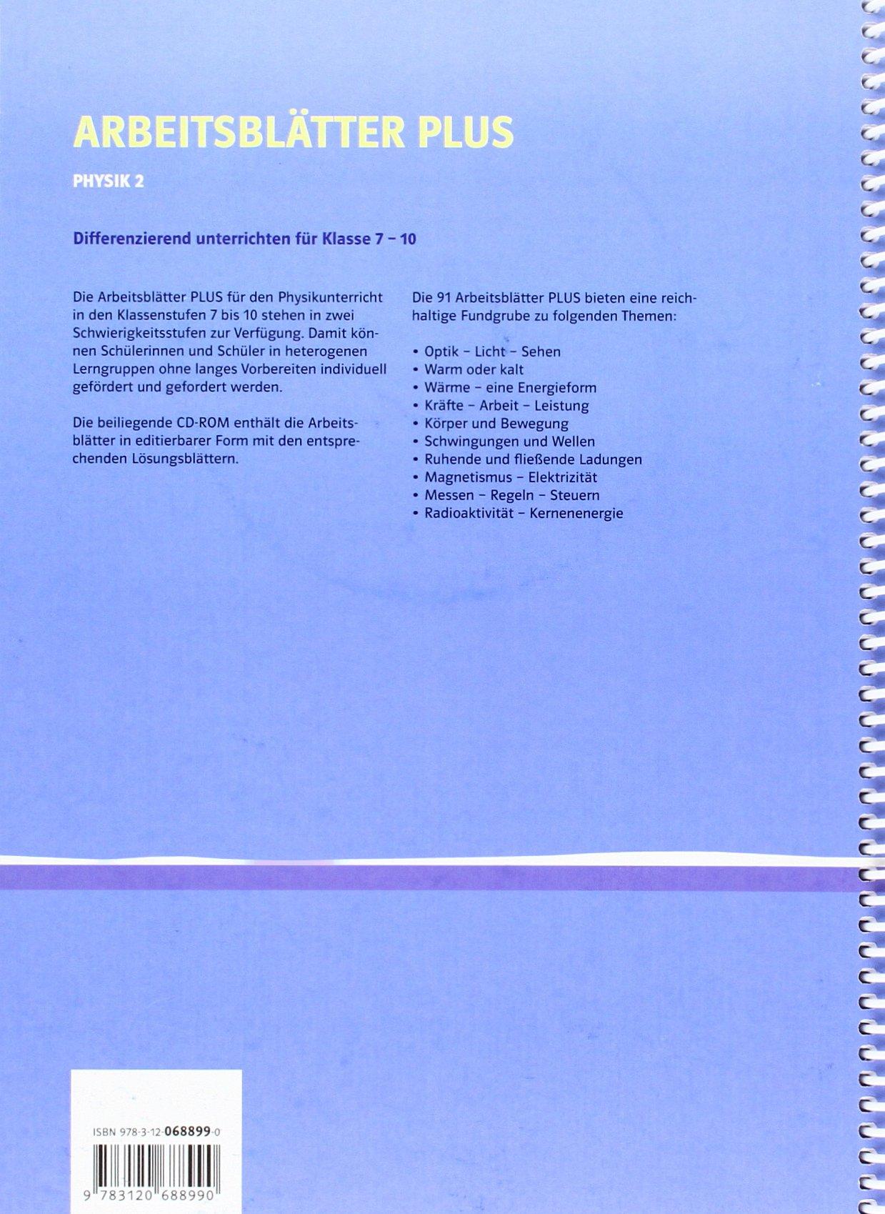 Arbeitsblätter PLUS Physik 2: Differenziert unterrichten für Klasse ...
