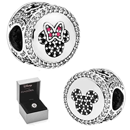 952630674 Image Unavailable. Image not available for. Color: Mickey & Minnie Sparkling  Icons - Limited Edition Disney Charm,