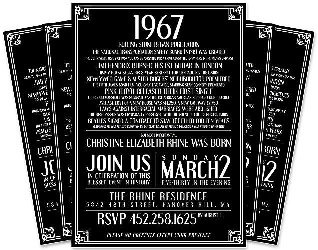 Amazon this year in history 50th birthday invitation handmade this year in history 50th birthday invitation filmwisefo