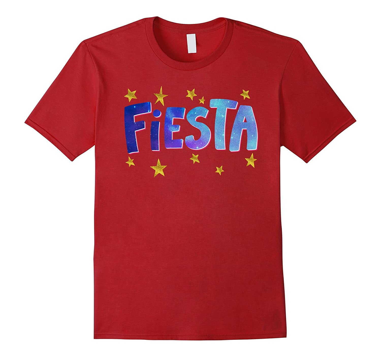 Cool Fiesta Galaxy Party Gold Stars Festival Cute T Shirts-PL