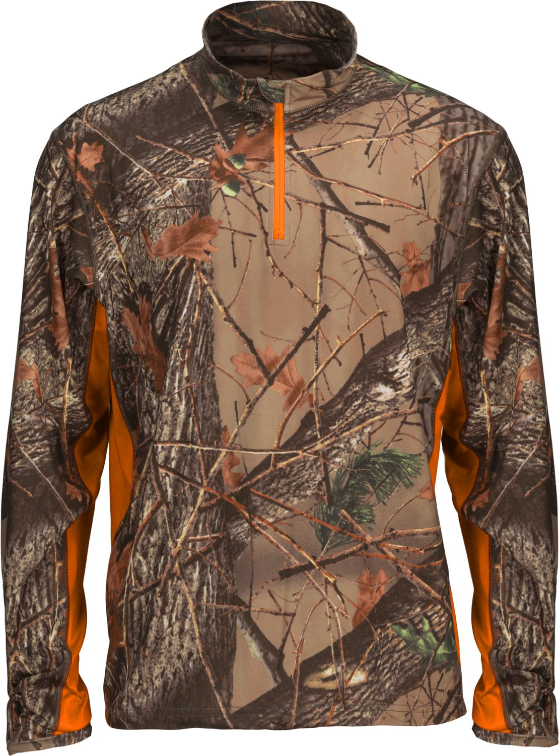 Trailcrest Camo Herren Impulse Active Performance 1/4 Zip Pullover Base Layer Long Sleeve Top