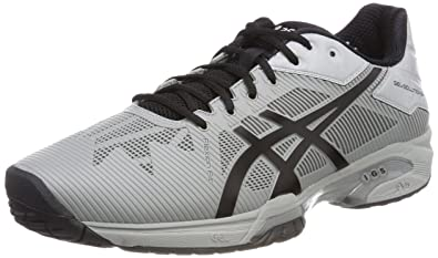 Asics Gel-Solution Speed 3, Chaussures de Tennis Homme, Multicolore (Mid GR E Y Black), 41.5 EU