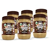PB&Me USDA Organic Powdered Peanut Butter, Keto Snack, Gluten Free, Plant Protein, Chocolate, 16 Ounce, 6 Count