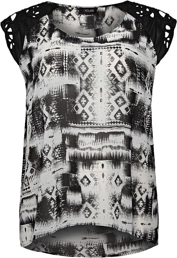Diseño Tribal patrones para coser Yoursclothing para mujer de detalle de camisa de abalorios escribir encima con bordes: Amazon.es: Ropa y accesorios