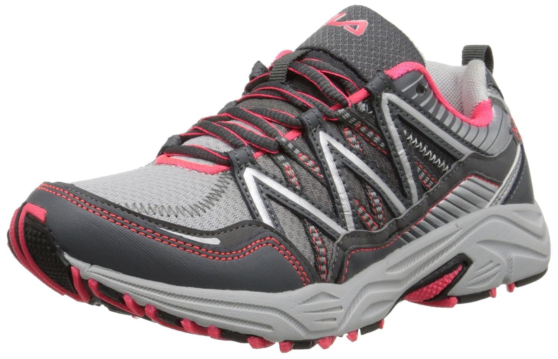 Fila Women's Headway 6 Running Shoe B010777KXU 9 B(M) US|Metallic Silver/Castlerock/Diva Pink