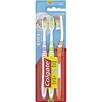Colgate Extra Clean Toothbrush Set - Medium, 3 Toothbrushes
