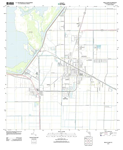 Belle Glade Florida Map.Amazon Com Usgs Historical Topographic Map 2012 Belle Glade Fl