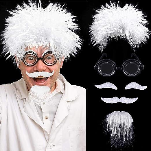 Juego de Pelucas de Científico, Incluye Peluca de Disfraz De ...