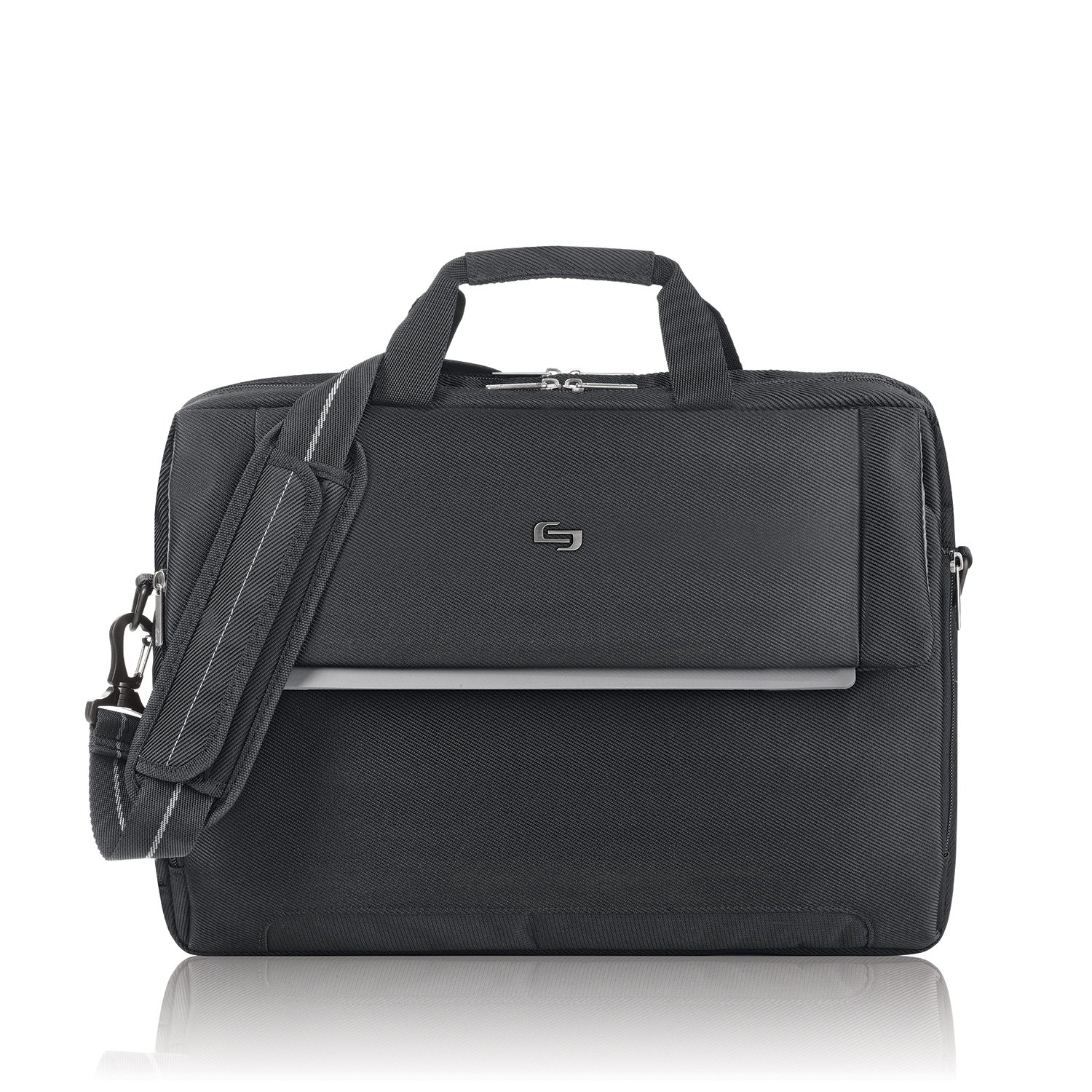 Solo Chrysler 17.3 Inch Laptop Briefcase, Black by SOLO (Image #1)