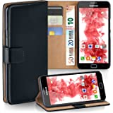 Samsung Galaxy Note Hülle Schwarz mit Karten-Fach [OneFlow 360° Book Klapp-Hülle] Handytasche Kunst-Leder Handyhülle für Samsung Galaxy Note Case Flip Cover Schutzhülle Tasche