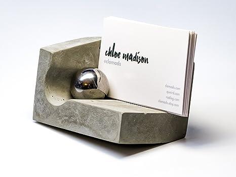 Amazon concrete business card holder for desk with magnet and concrete business card holder for desk with magnet and steel ball design by clomads colourmoves
