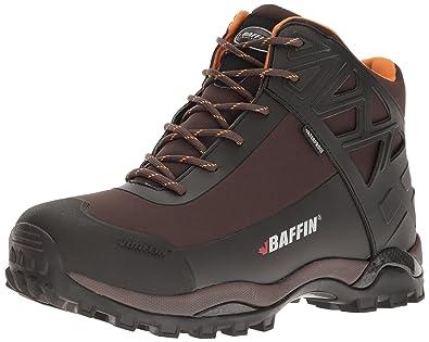 Baffin Men's Blizzard Snow Boot, Chocolate/Orange, ...