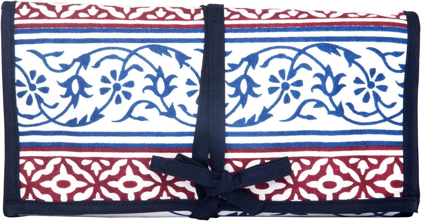 KNITPRO Estuche para Agujas Circulares con diseño de Bloque de Mano, Color Azul Marino, algodón, Multicolor, 38 x 8.5 x 8.5 cm: Amazon.es: Hogar