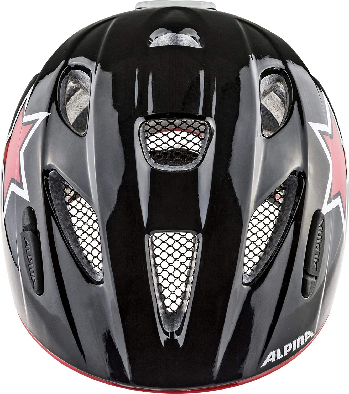 Alpina XIMO Flash Helm 2019 Black//Red//White//Star