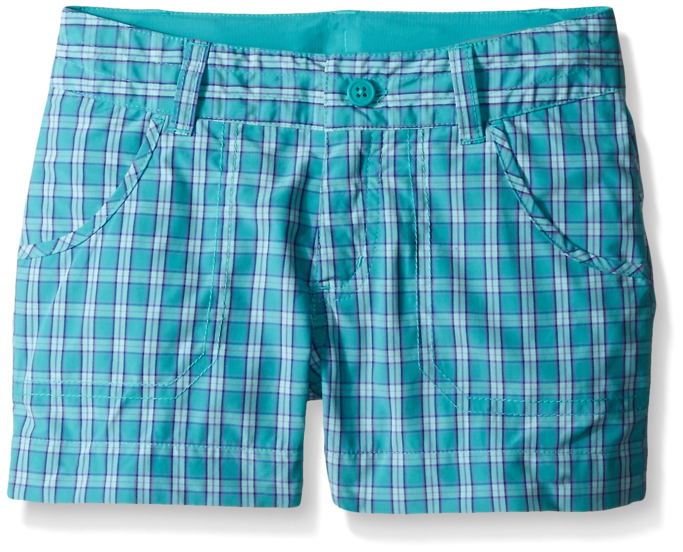 Columbia Girls Silver Ridge III Plaid Short, Miami Plaid, XX-Small by Columbia
