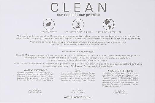 Amazon Com Clean Perfumer S Layering Trio 3 Count Beauty
