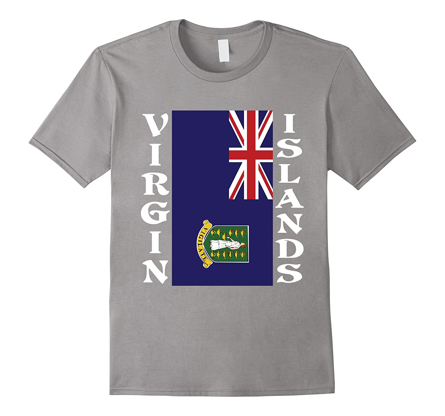 Virgin Islands UK United Kingdom Sideways Flag T-Shirt