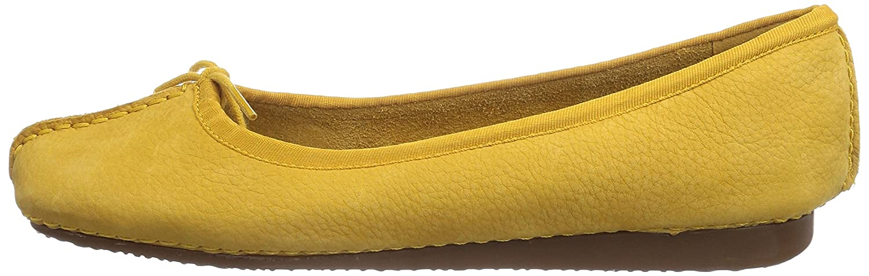 Clarks Freckle Ice, Damen Geschlossene Nubuck) Ballerinas Gelb (Honey Nubuck) Geschlossene 971c59