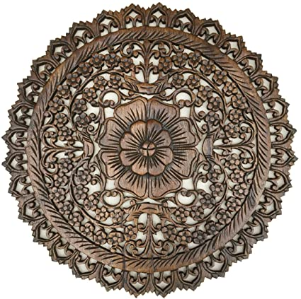 Amazoncom Asiana Home Decor Tropical Bali Wood Carved Wall Art