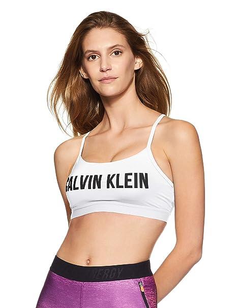 812209812c Calvin Klein Performance Workout Cross Back Strap Padded Bra  (4WF8K147100S Bright White)