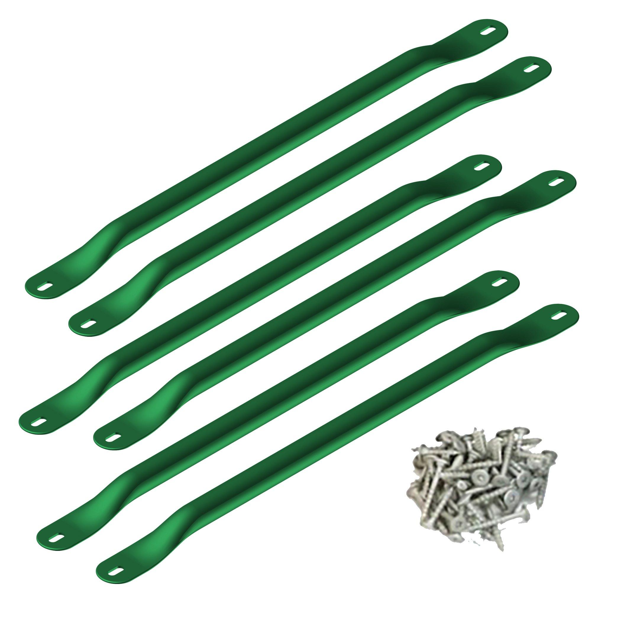 Swing-N-Slide WS 4564 Metal Monkey Bars with Six 21.5'' Metal Rungs with Hardware, Green by Swing-N-Slide